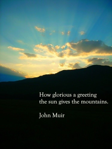 John Muir Mountain Quote 1 Picture Quote #1