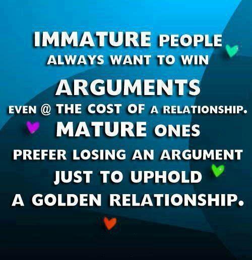 Immature Quote 4 Picture Quote #1