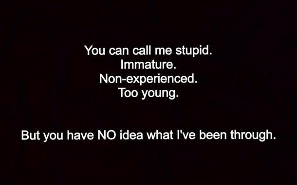 Immature Quote 1 Picture Quote #1