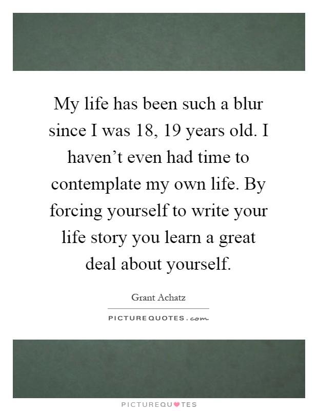 Write my life story