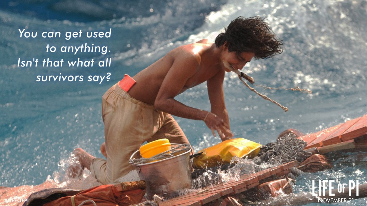 Life Of Pi Survival Quote 1 Picture Quote #1