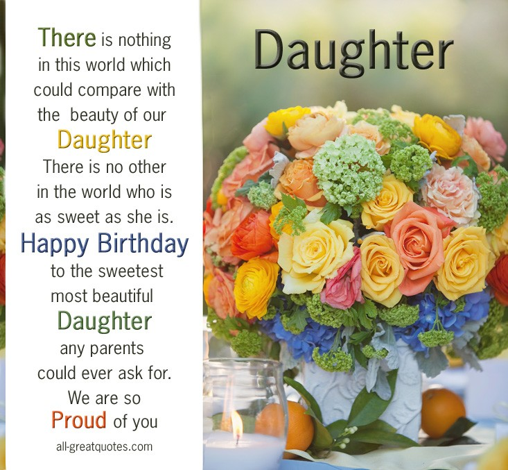 Birthday Quote For Daughter 5 Picture Quote #1