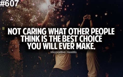 Not Caring Quote 1 Picture Quote #1