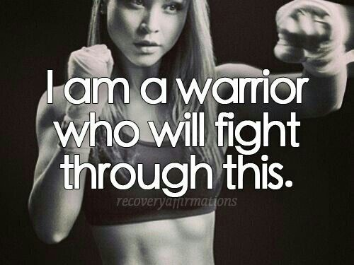 I Am A Warrior Quote 1 Picture Quote #1