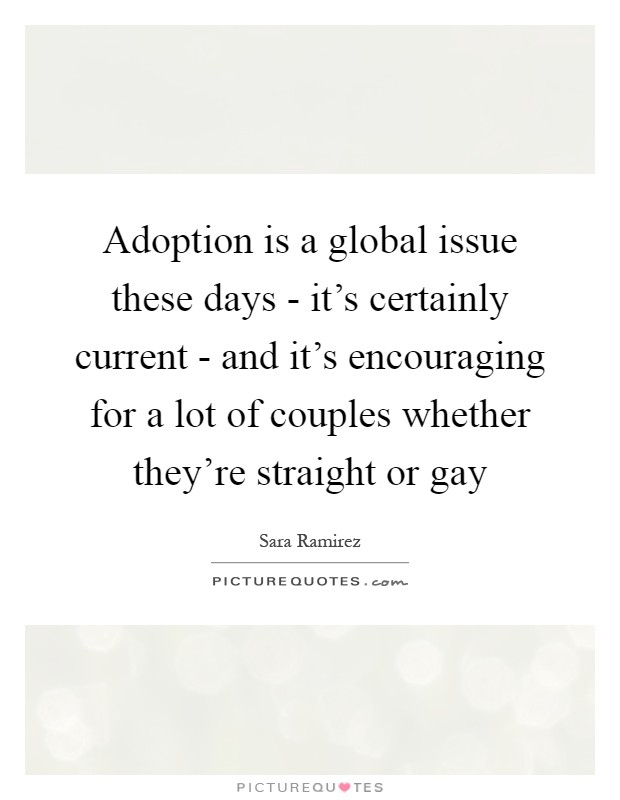 from Rogelio global views on gay adoption