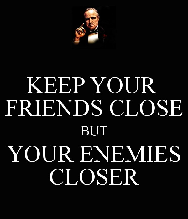 Joining Friends Enemies Quote 1 Picture Quote #1