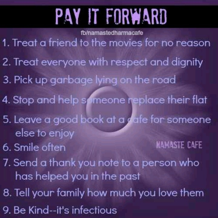 Pay It Forward Quote 19 Picture Quote #1