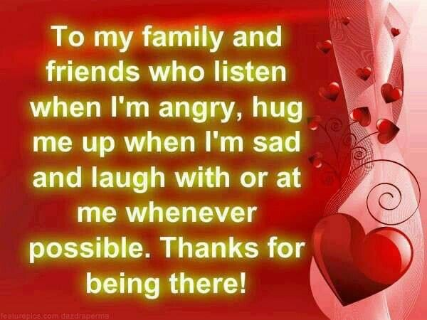 Thank You Quote For Friends And Family 1 Picture Quote #1