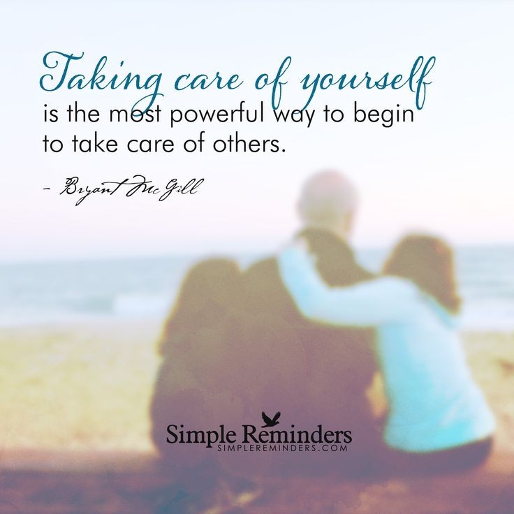 Inspirational Quote Take Care Of Yourself 1 Picture Quote #1