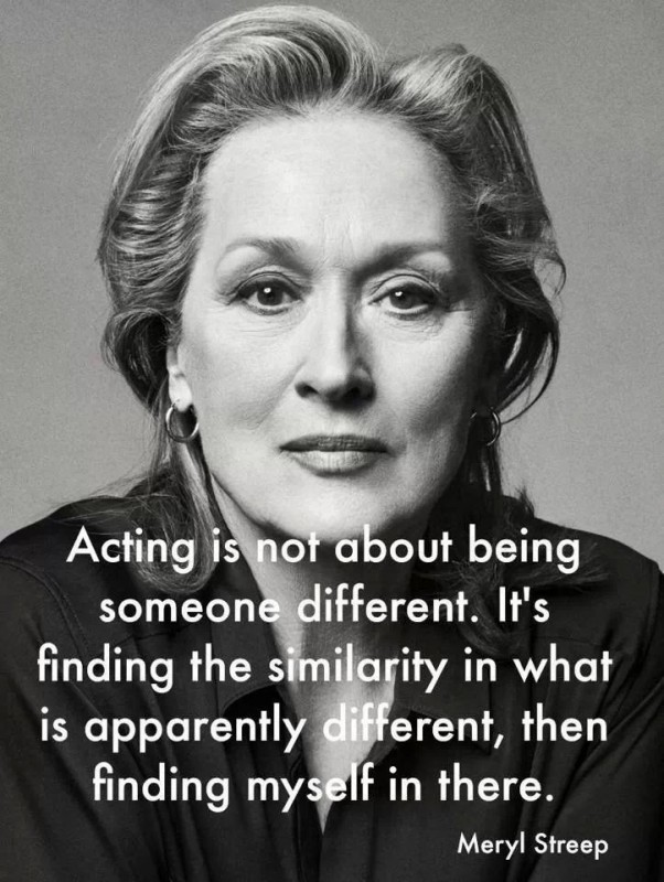 Meryl Streep On Acting Quote 2 Picture Quote #1