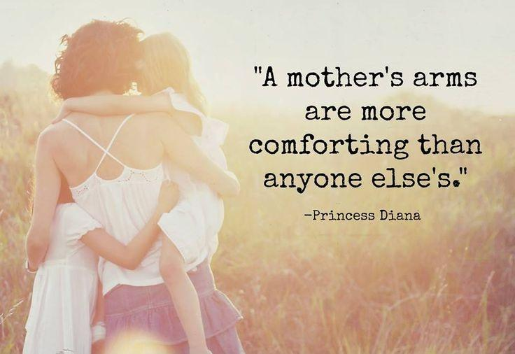 A mother's arms are more comforting than anyone else's Picture Quote #1