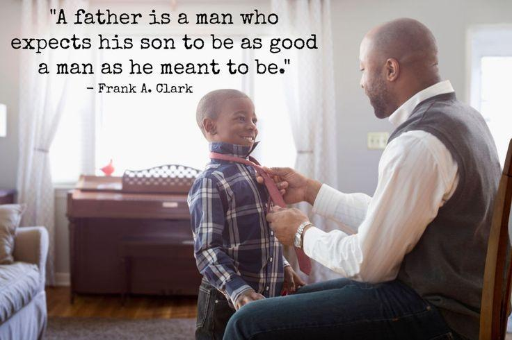 A father is a man who expects his son to be as good a man as he meant to be Picture Quote #1