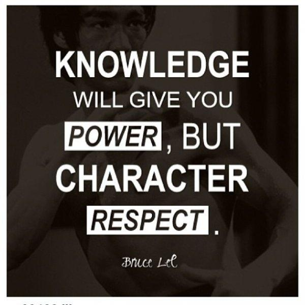 Knowledge will give you power, but character respect Picture Quote #1