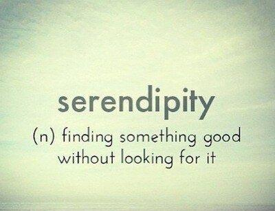 Serendipity (n) finding something good without looking for it Picture Quote #1