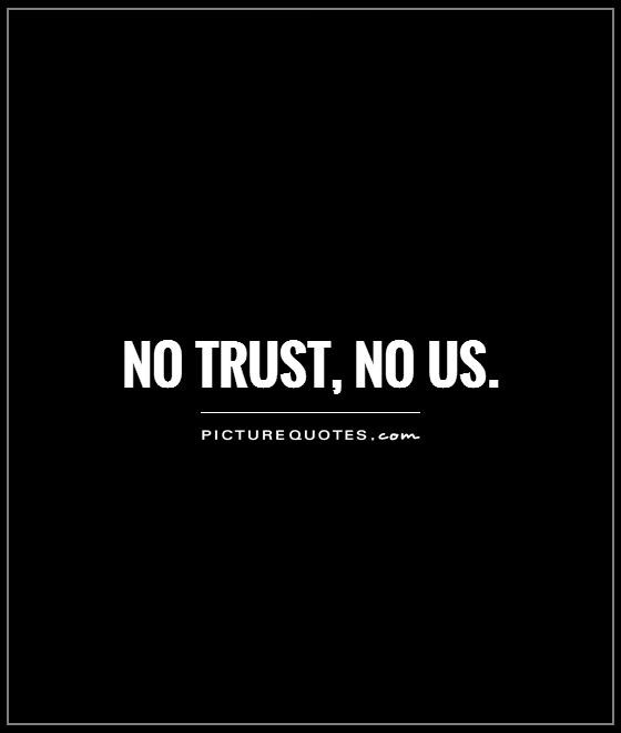 Trust Quote For Relationships 1 Picture Quote #1