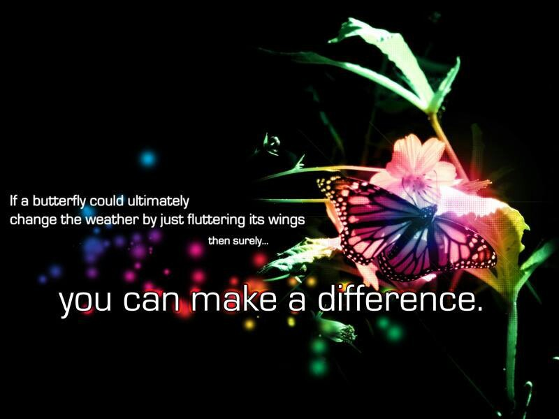 Inspirational Quote About Making A Difference 1 Picture Quote #1