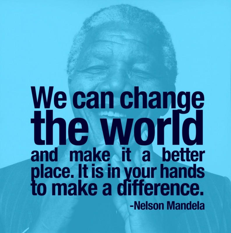 Quote About Making A Difference In The World 4 Picture Quote #1