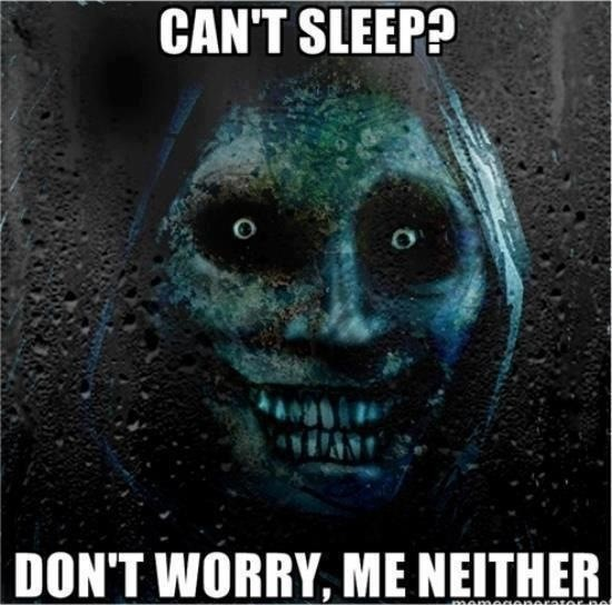 Scary Cant Sleep Quote 1 Picture Quote #1