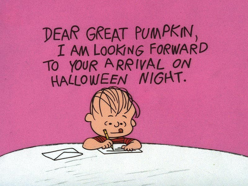 Great Pumpkin Charlie Brown Quote 1 Picture Quote #1