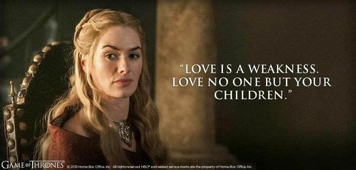 Love Is Weakness Quote 1 Picture Quote #1