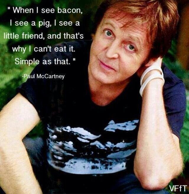 Paul Mccartney Vegetarian Quote 1 Picture Quote #1