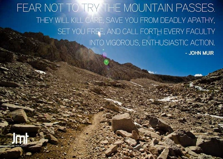 John Muir Hiking Quote 1 Picture Quote #1