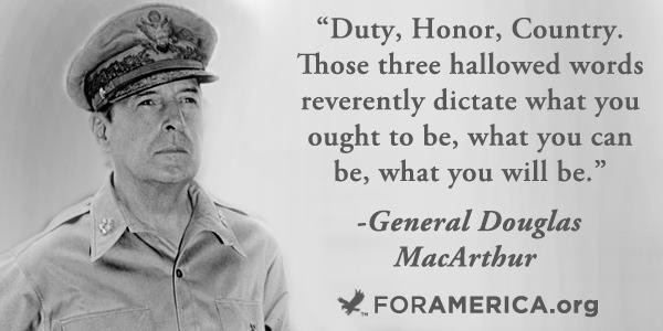 Duty And Honor Quote 1 Picture Quote #1