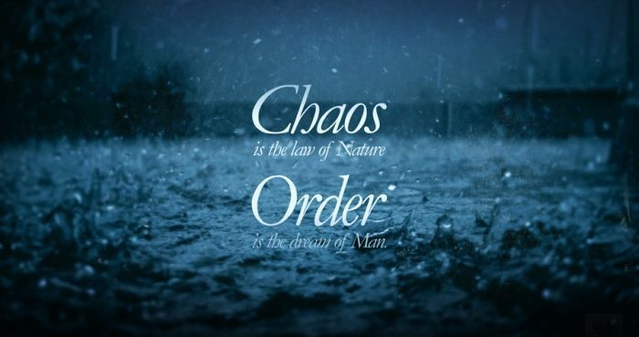 Order And Chaos Quote 1 Picture Quote #1