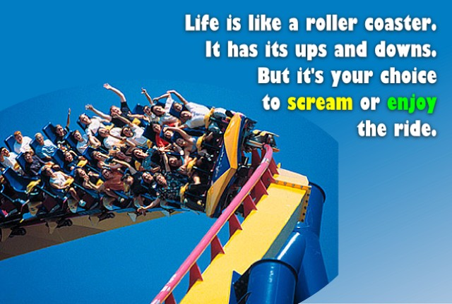 Quote About Life Is Like A Roller Coaster 3 Picture Quote #1