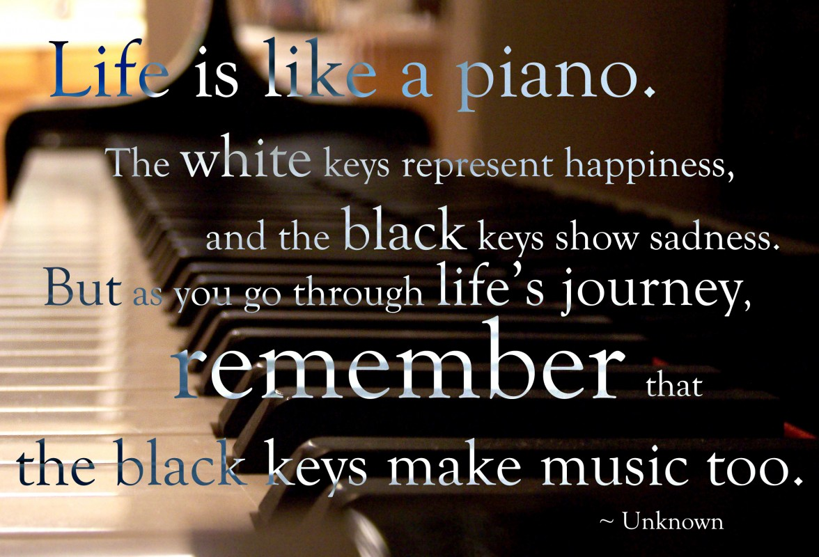 Life Is Like Music Quote 1 Picture Quote #1