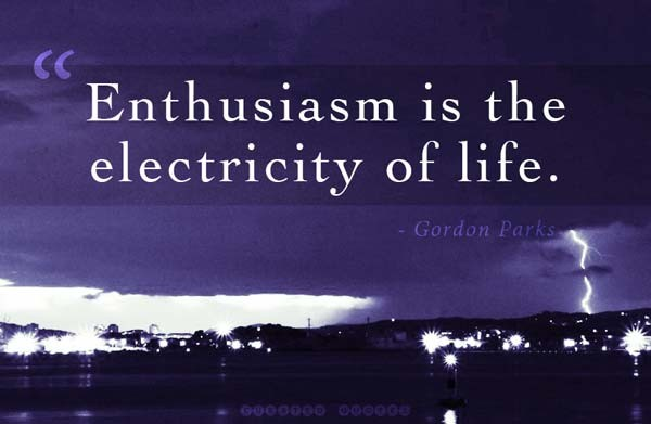 Enthusiasm Quote 8 Picture Quote #1