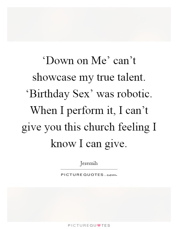 Jeremih Performing Birthday Sex 81