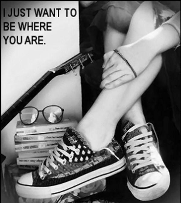 I just want to be where you are Picture Quote #1