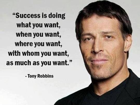 Success is doing what you want to do, when you want, where you want, with whom you want, as much as you want Picture Quote #1