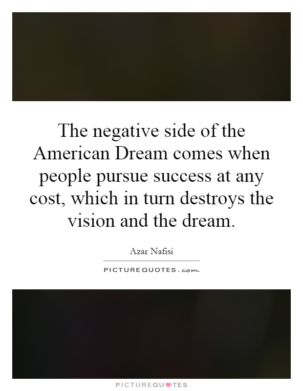 "the american dream no longer exists essay We don't see any american dream we've experienced only the american nightmare"" when americans can no longer see the stars, the times are tragic."