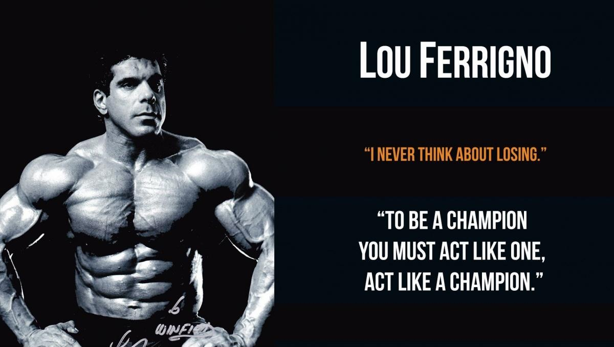 I never think about losing. To be a champion you must act like one, act like a champion Picture Quote #1
