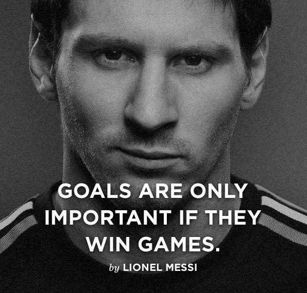 Goals are only important if they win games Picture Quote #1