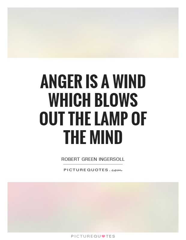 Anger is a wind which blows out the lamp of the mind Picture Quote #1