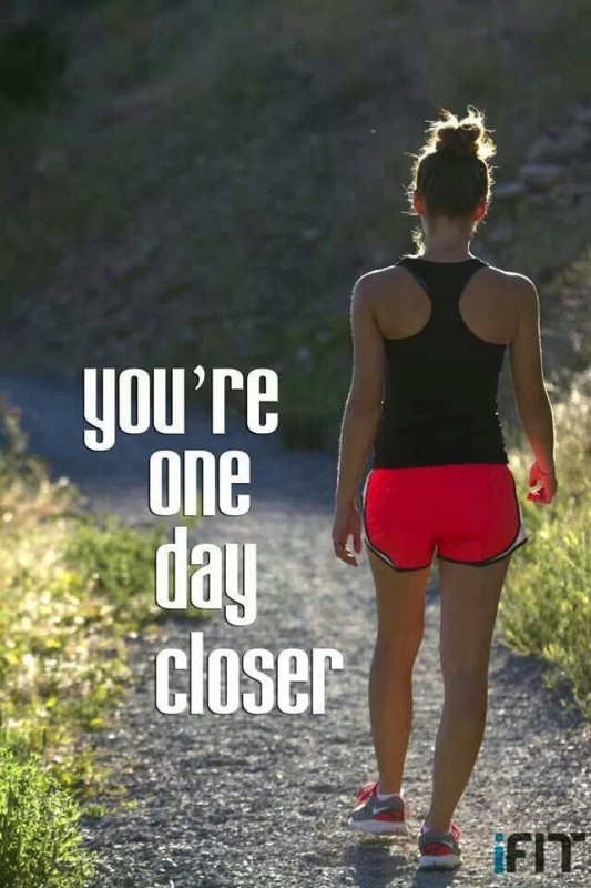 One Day At A Time Fitness Quote 1 Picture Quote #1