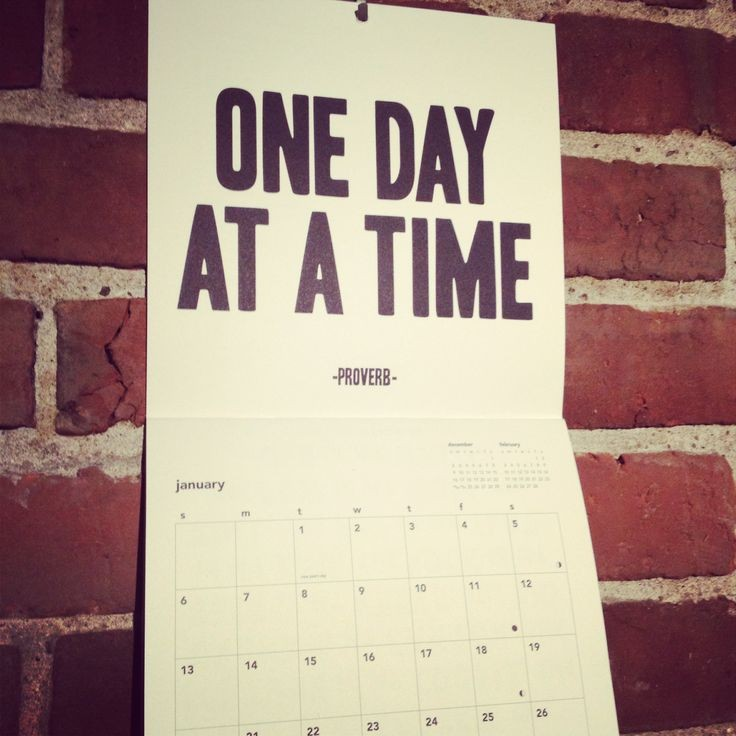 one day at a time - photo #21