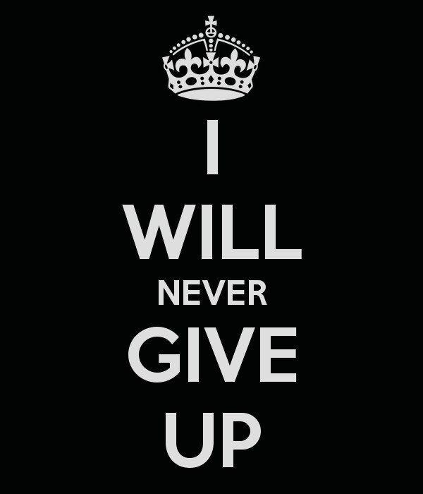 I Will Never Quit Quote 1 Picture Quote #1
