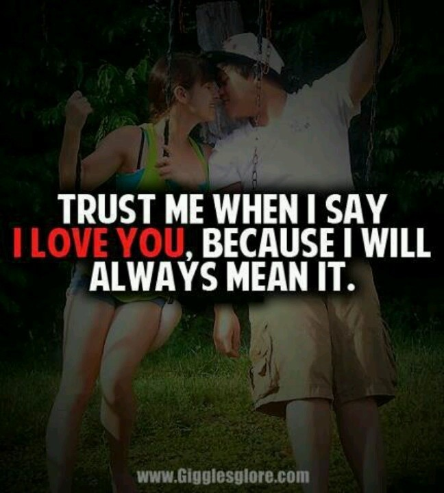 Trust Me I Love You Quote 1 Picture Quote #1