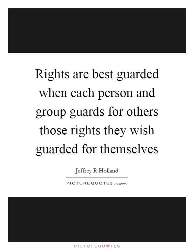 What is a guarded person