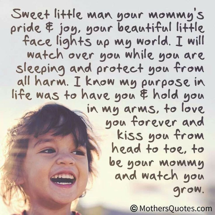 Mommys Little Boy Quote 1 Picture Quote #1