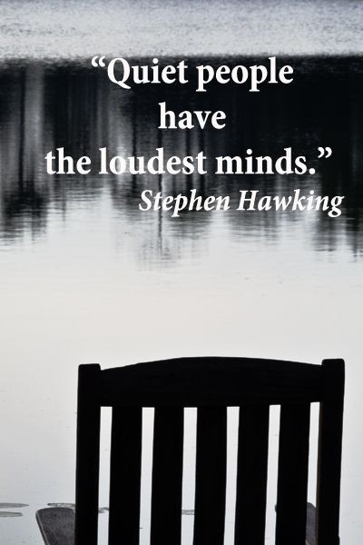 Thinking And Being Quiet Quote 1 Picture Quote #1