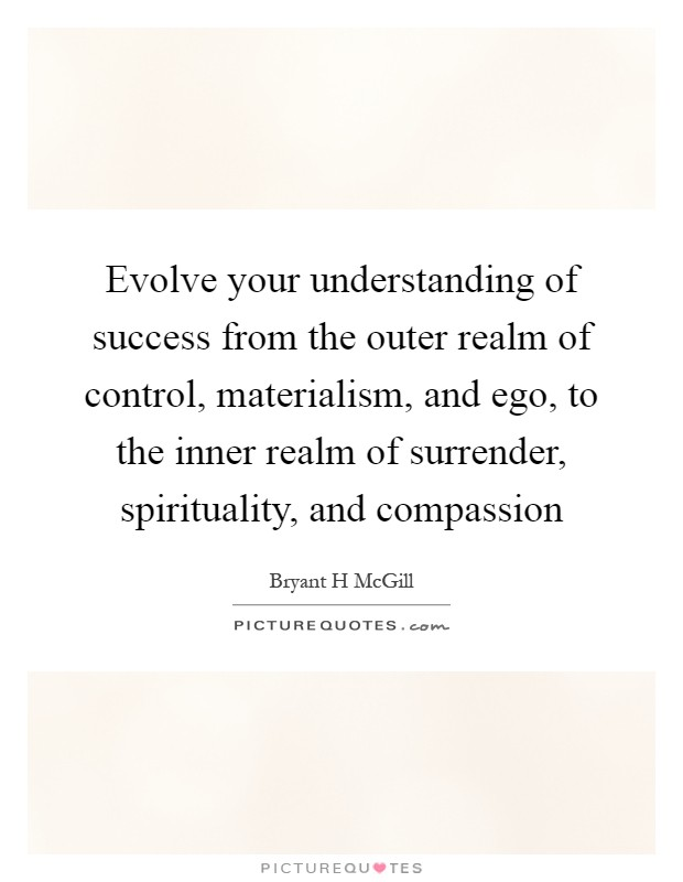 evolve your understanding of success from the outer realm of