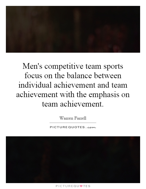Mens Competitive Team Sports Focus On The Balance Between Individual Achievement And With Emphasis
