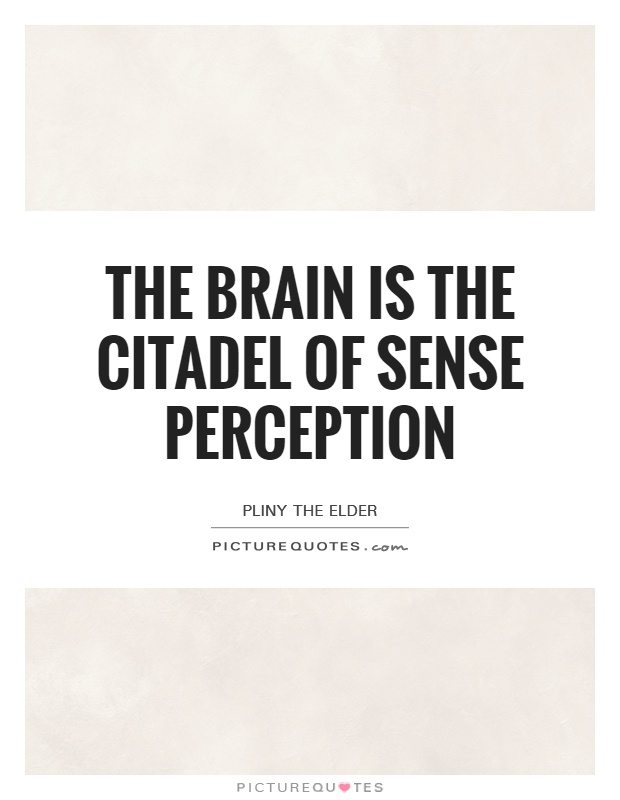 The brain is the citadel of sense perception Picture Quote #1