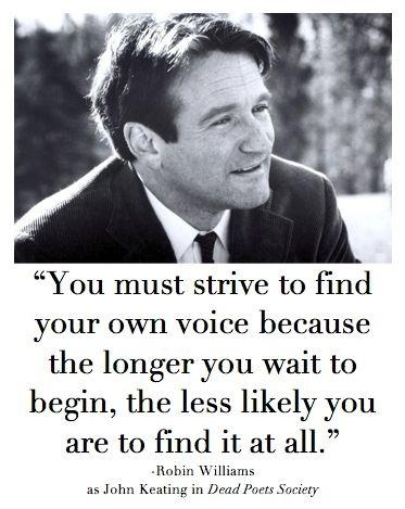 You must strive to find your own voice because the longer you wait to begin, the less likely you are to find it at all Picture Quote #1