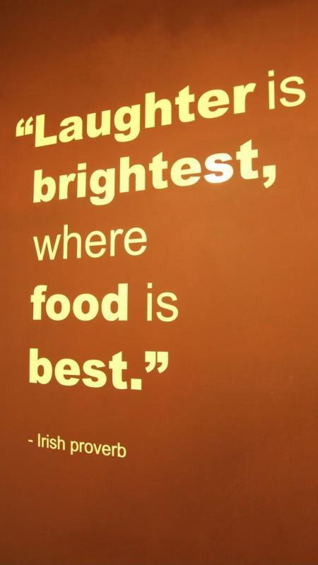Laughter is brightest where food is best Picture Quote #1